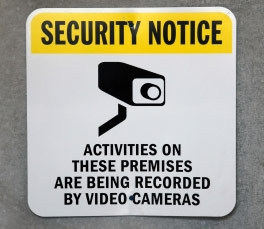 security camera notice
